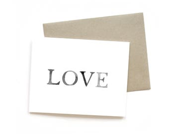 LOVE || Greeting Card | Love Card | Anniversary Card | Shower Card | Baby Card | Wedding Card | Engagement Card | Valentine Card