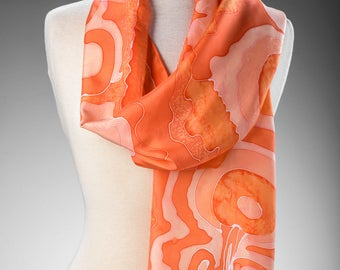 "Silk Scarf ""Orange Crush"""
