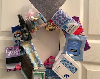Perfect Bride Gift, Wedding Emergency Kit, 911 toiletry Kit, Bridal Suite, Day of Neccessities, Travel size toiletries