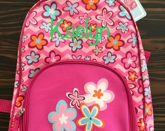 Personalized Kids Backpack- Girls Backpack- Flowers