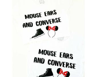 Mouse Ears and Converse, mouse ears, converse , minnie ears, mickey ears