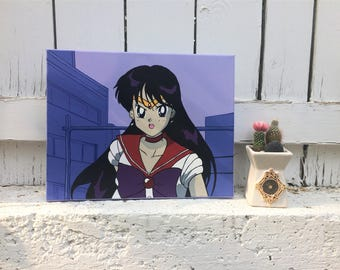 Sailor Mars Acrylic on Stretched Canvas