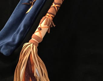 Handmade Deeerskin leather flogger