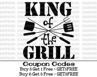 King of the Grill Svg Father's Day SVG PNG Cut Files Dad Svg Files for Cricut Svg Files for Silhouette Cameo Files Svg Designs Daddy Svg
