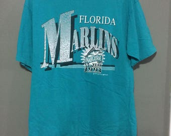 Florida marlins tshirt size large