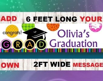 Congrats Banner, Graduation Banner, 2018 Banner, Grad Banner, Congratulations Banner, Custom Banner, Graduation Decor, Grad Party, Graduate