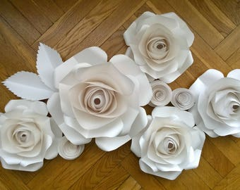 Baby Room Wall Decor - Paper Flowers - Photoshoot Backdrop -Paper flower Wall decor - Paper Flower wall