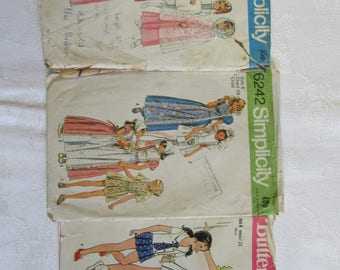 Vintage Sewing Pattern Bundle- Size four
