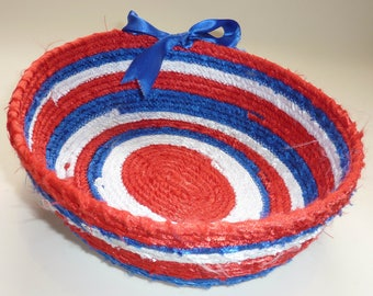 Jubilee coiled fabric basket