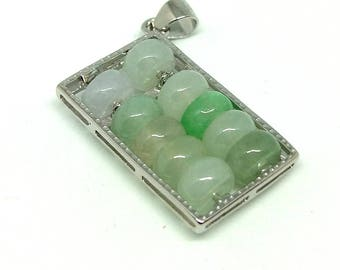 Jade abacus beads with S925 settings