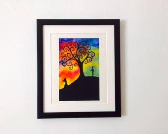 Watercolour Wonder Tree