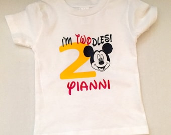 OH TWODLES BIRTHDAY shirt, Mickey Mouse birthday, Minnie birthday shirt, twodles birthday shirt, second birthday shirt, Minnie Mouse shirt