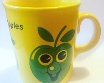 Vintage John Tams Designed Happy Apples Mug