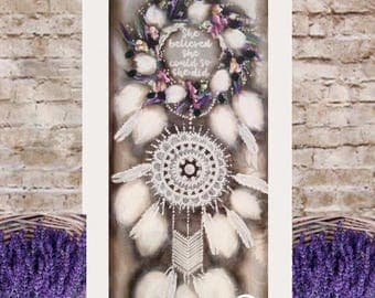 Postage included in listed price. ( smaller size 900mm-450mm ) Dream catcher
