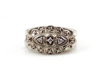 Vintage 14K WG Diamond Ring - X2720