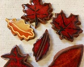Fall Leaves Ceramic Mosai...