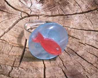 "Ring ""small fish in water"""
