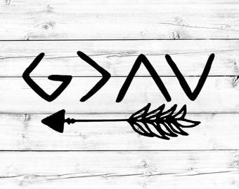 God Is Greater Than The Highs and Lows SVG - PNG File, Cut File, Vinyl Design, Cricut, Silhouette, Arrow SVG