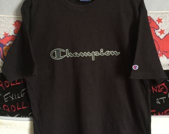 Champion Big Logo Spellout Crew Top Tee /streetwear/hiphop/supreme/cdg/