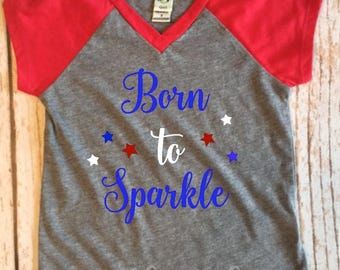 Born to Sparkle Little girls t-shirt