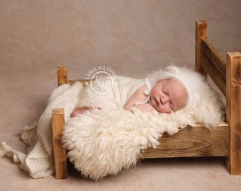 Rustic wooden newborn bed photography prop / photography prop / newborn prop / sitter prop / newborn bed