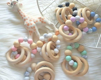 Silicone Marble Teether / Rattle