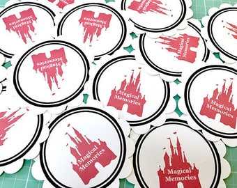 Castle themed silhouette die cut embellishments