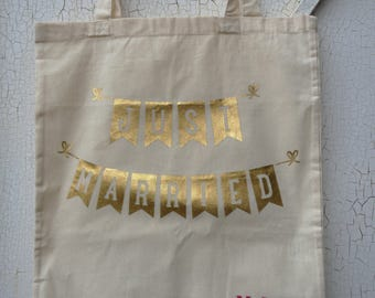 "bag totebag ""Just Married"" - wedding bag - bag married - bachelorette party"