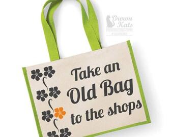 Take an old bag - jute shopper