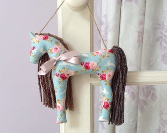 Plush Horse Horse Gift Tilda Fabric Horse Hanger Hanging Decoration Girls