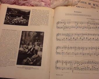 5 sheets of 3rd grade piano lesson book