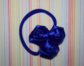 One size nylon headband - blue