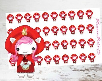 Suki the Unicorn // Planner Stickers // Unicorn Planner Stickers // Fairy Tale // Book