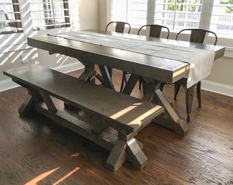 Farmhouse Table,Trestle Farmhouse Table,X Farmhouse Table,Rustic Dining  Table ,Farm