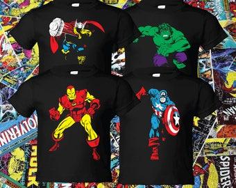 Custom Captain America Iron Man Thor Hulk Avengers T-shirts