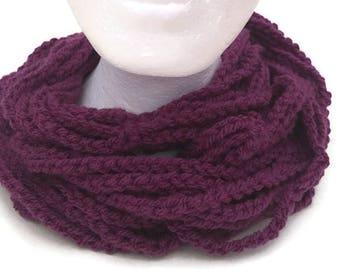 Crochet Cowl Necklace, Cowl Necklace, Crochet Necklace, Crochet Cowl, Crochet Chain Collar, Crochet Chain Cowl, Statement Necklace, Cowl