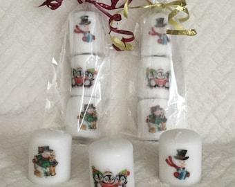 Miniature Christmas votive candle
