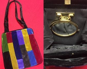 Beautiful Vintage Velvet Handbag