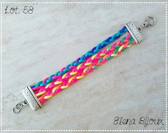 Bracelet with multicolor laces