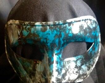 Green skull mask