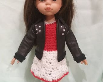 Leather jacket for Paola Reina, La Lalla doll