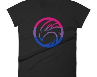 Bi Pride Hawk Women's short sleeve t-shirt lgbt lgbtqipa lgbtq mogai pride flag