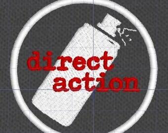 Resistance Scouts Direct Action merit badge patch resist politics antifa feminist leftist