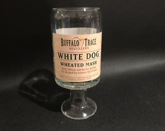 Buffalo Trace White Dog Bourbon Whiskey Bottle Soy Candle With/without Pedestal Base. Made To Order !!!!!!!