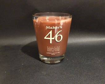 Makers Mark Candle makers mark 46 Candle Bourbon Whiskey Soy Candle With/Without Base. Made To Order !!!!!!!