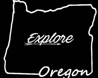 Oregon  Explore Vinyl Decal