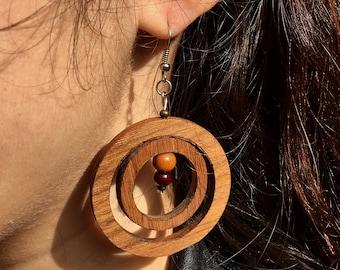 Teak Wood Earrings