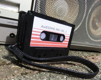 Guardians of the Galaxy upcycled 80's retro cassette tape purse