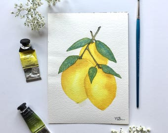 Lemon watercolor 3
