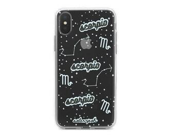 Scorpio Clear iPhone Case 7 7 Plus 8 Plus X 10